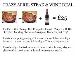 CRAZY APRIL STEAK OFFER – NOW AVAILABLE thumbnail