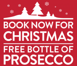 FREE BOTTLE OF PROSECCO FOR YOUR CHRISTMAS PARTY! thumbnail